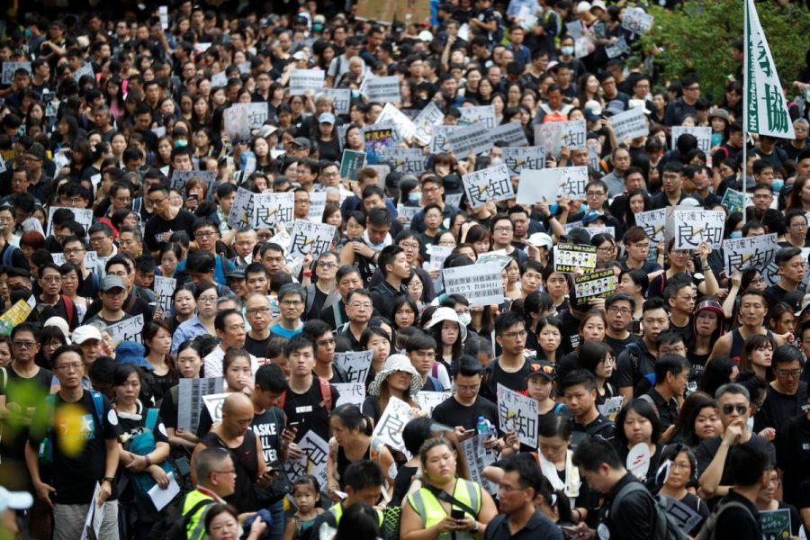 On+August+17%2C+2019%2C+members+of+the+Hong+Kong+Professional+Teachers%27+Union+gathered+in+Hong+Kong+to+protest+the+extradition+bill.
